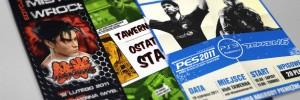 Plakaty na turniej PES oraz TEKKEN